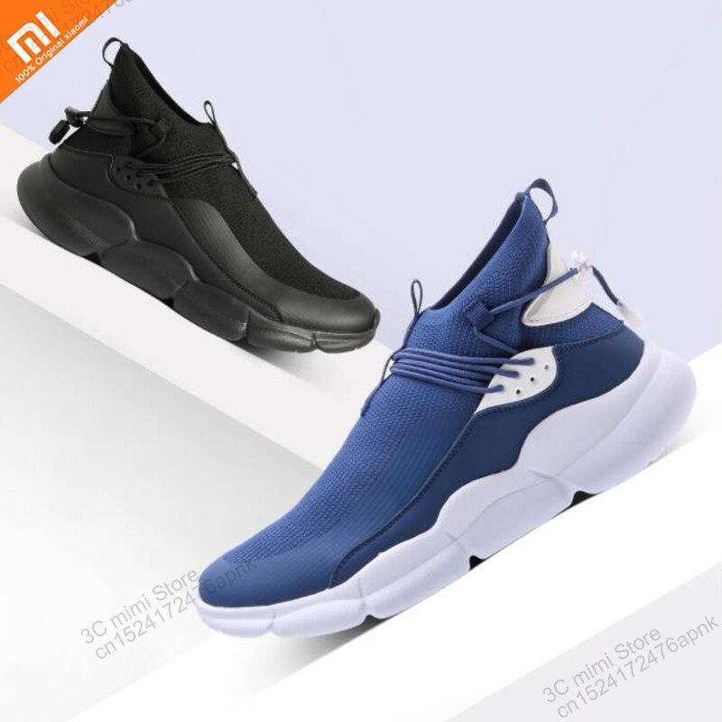 Xiaomi mijia Uleemark men s lightweight high top fly woven casual shoes lock design elastic shock