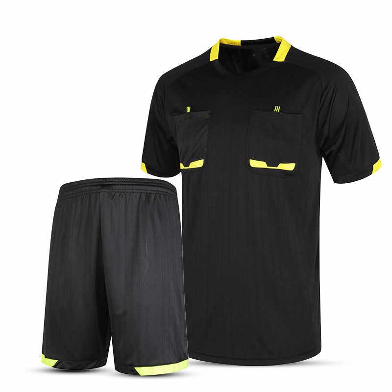58b685d61 Cheap Survetement football 2017 Professional Men Soccer Judge uniforms  soccer referee jersey sets clothing referee Jerseys