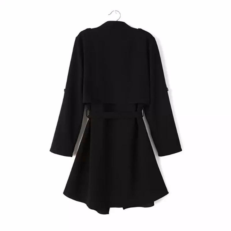 2016 Trench Coat Women 2016 Autumn Female Open Stitch Outwear Coat Big Size Windbreaker Summer Trench