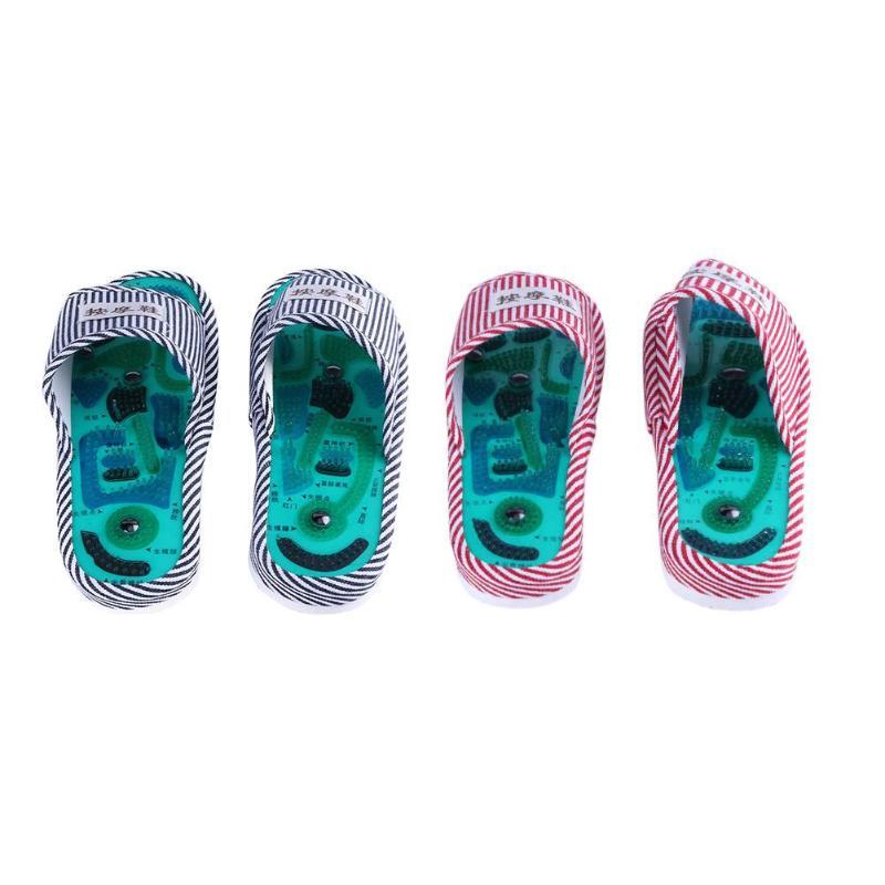 La acupuntura masaje de pies zapatillas de Salud de reflexología magnético sandalias acupuntura sana pies masajeador imán zapatos