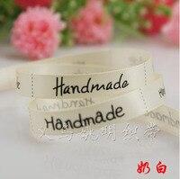 Fashionable Jewelry Free Shipping Handmade Fashion Ribbon 9mm Printed White Ribbon Trimming 100 Yards Roll Wholesale