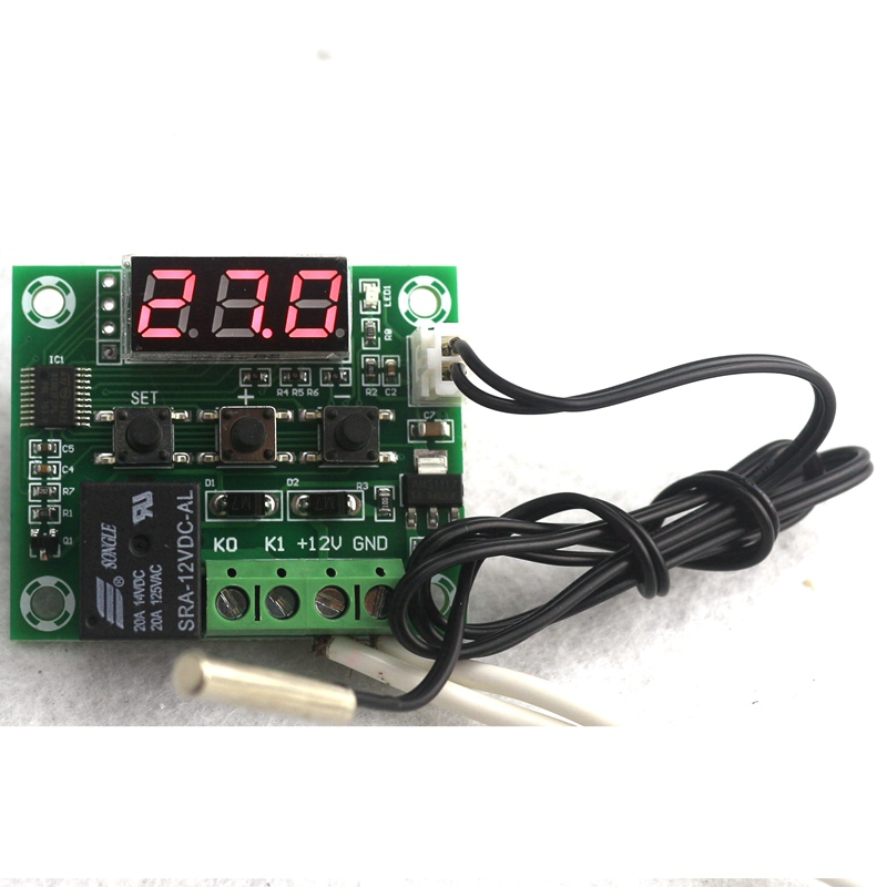 High-accuracy DC12V Temperature Controller Digital Thermostat Heat Cool Temp Switch Micro Control Panel -<font><b>50</b></font>~<font><b>110C</b></font> image
