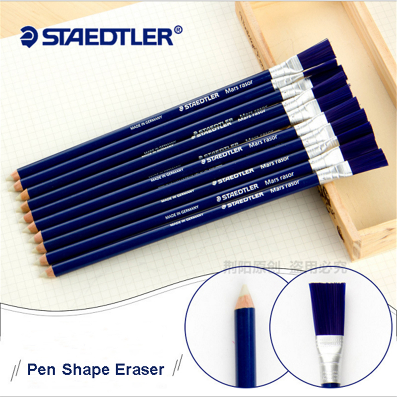 1 Pcs Special Design Pen Shape Erasers With Brush Pencil Eraser For School Student Gift Creative Stationery Art Supplies
