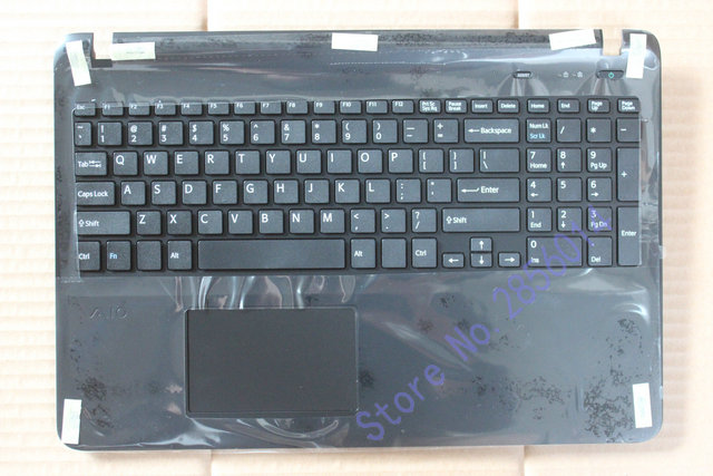 US LAYOUT FOR SONY VAIO FIT15 SVF15 SVF152 SVF153 SVF15E with touchpad and without backlit Palmrest Cover