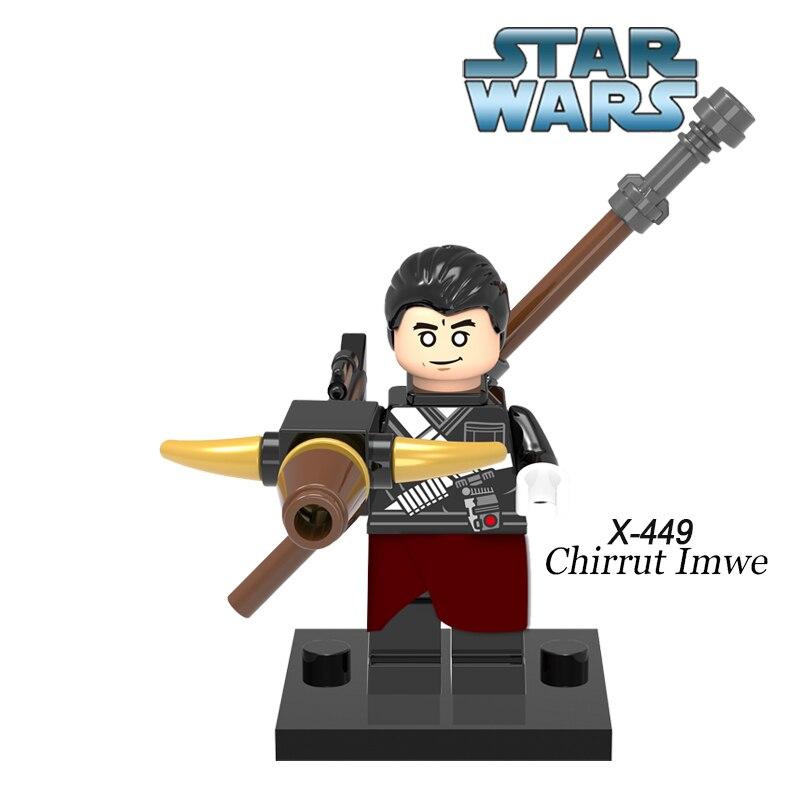Star Wars Chirrut Imwe diy цифры Имперской Hovertank Пилот Люк Скайуокер Строительные Блоки Игрушки Дети DIY Развивающие Игрушки XH 449