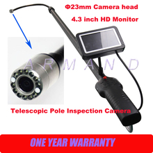 Wholesale prices Telescopic Pole Inspection Cameras Carbon Fiber Light Weight Flexible 23mm camera Industrial Endoscope