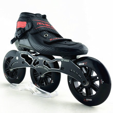 RASHA skate inline speed roller skates newest carbon boots 3*120mm  three color