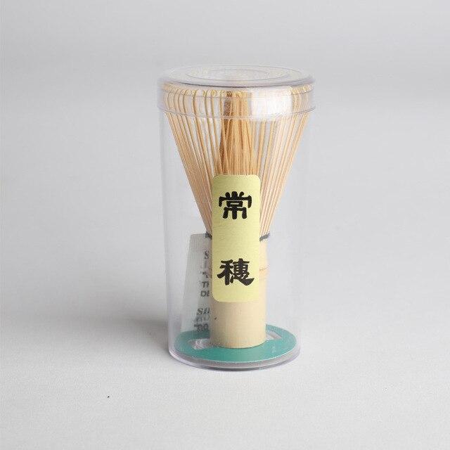 ญี่ปุ่นพิธีไม้ไผ่ 64 ผงชาเขียว Whisk ไม้ไผ่ Matcha Whisk Chasen ไม้ไผ่ที่มีประโยชน์แปรงเครื่องมืออุปกรณ์เสร...
