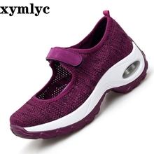 2019 Spring Casual Women Shoes Breathable Mesh Lace-up Shoes Women Flat Platform Sneakers Ladies Shoes chaussures femme