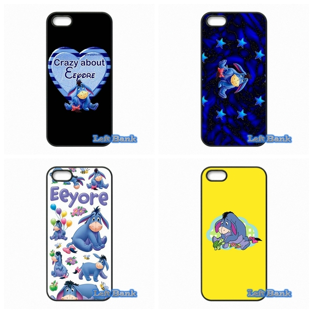 For Apple iPhone 4 4S 5 5C SE 6 6S 7 Plus 4.7 5.5 iPod Touch 4 5 6 cartoon donkey art Eeyore Case Cover