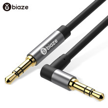 Biaze Aux cable 3,5mm Cable de audio de 3,5mm Jack macho a macho Aux cable para coche iPhone 7 auriculares estéreo altavoz cable Aux Cable(China)