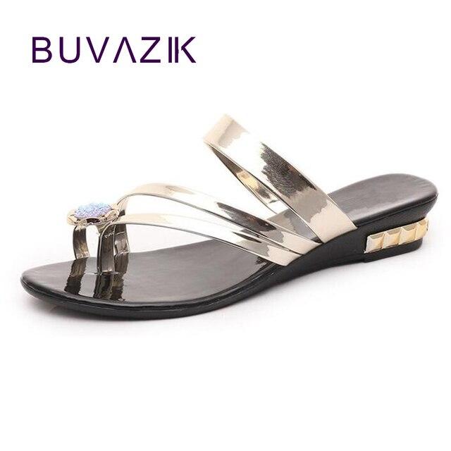 f012e2db2729ab Wedges sandals women s summer fashion beach shoes 2018 new ladies footwear  beautiful crystal