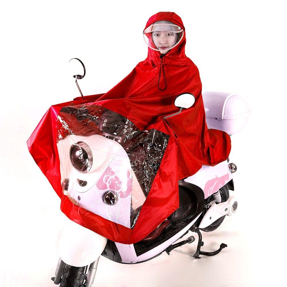 Vehemo Оксфорд унисекс мотоцикл плащ Дождевик-доказательство Универсальный Велоспорт накидка пончо ветрозащитный дождь ветер автомобильные аксессуары - Цвет: red