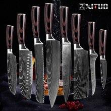 XITUO нож шеф-повара кухонный японский нож cuchillos de cocina кухонные инструменты Мясник сашими нож garmny santoku инструмент для нарезки