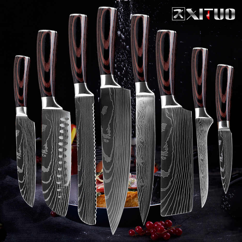 XITUO chef knife kitchen japan cleaver knife cuchillos de cocina kitchen tools butcher sashimi knife garmny santoku Slicing Tool