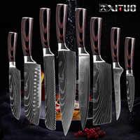 Cuchillo de cocina XITUO chef cocina Japón cuchillo de cuchilla cuchillos de cocina herramientas de cocina carnicero sashimi cuchillo garmny santoku herramienta de rebanado