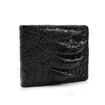 Unique 3D Claw Designer Genuine Crocodile Skin Men Short Purse Wallet Exotic Alligator Leather Male Card Holder Wallet For Man
