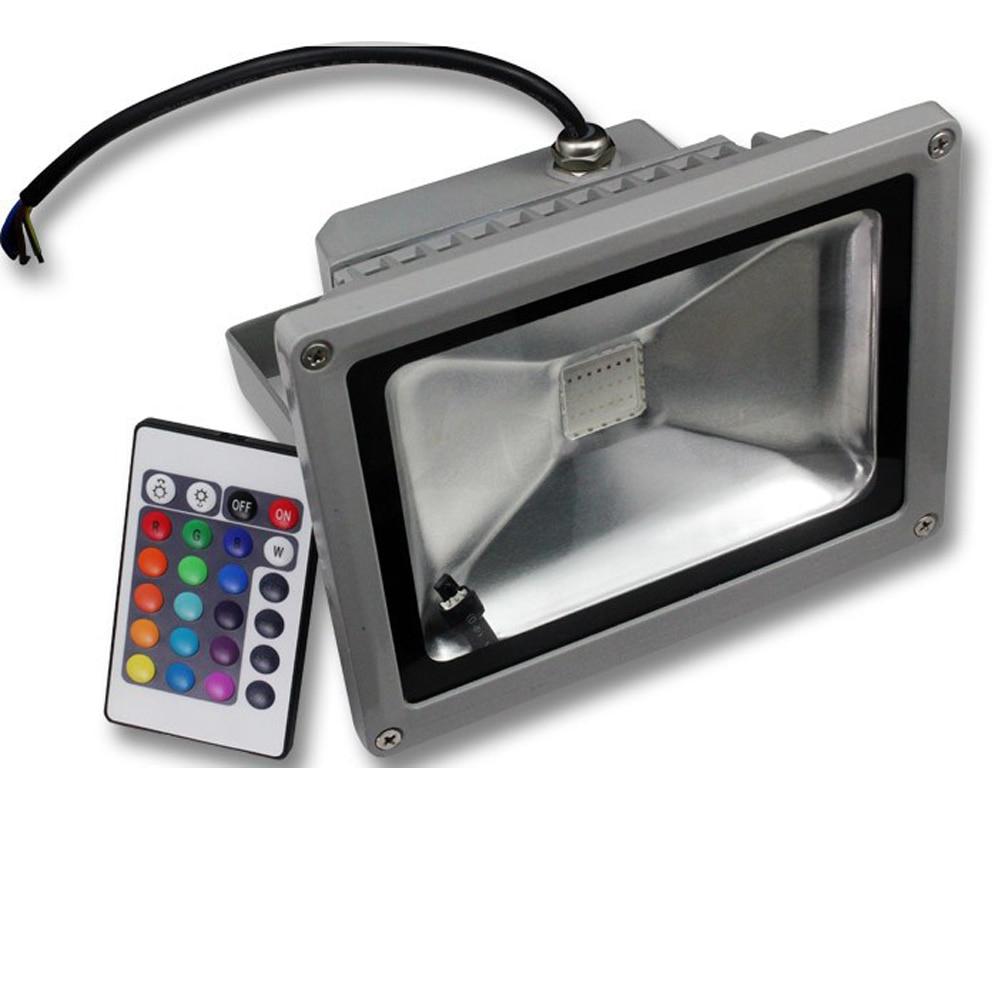 Waterproof Ip65 Rgb Led Floodlight 20w Reflector Spotlight