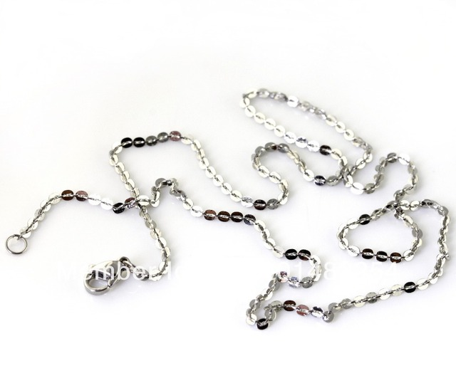 1x 3g Classic Stainless Steel Women's Silver 45cm*2mm Round Necklace Chain Girl's Jewelry