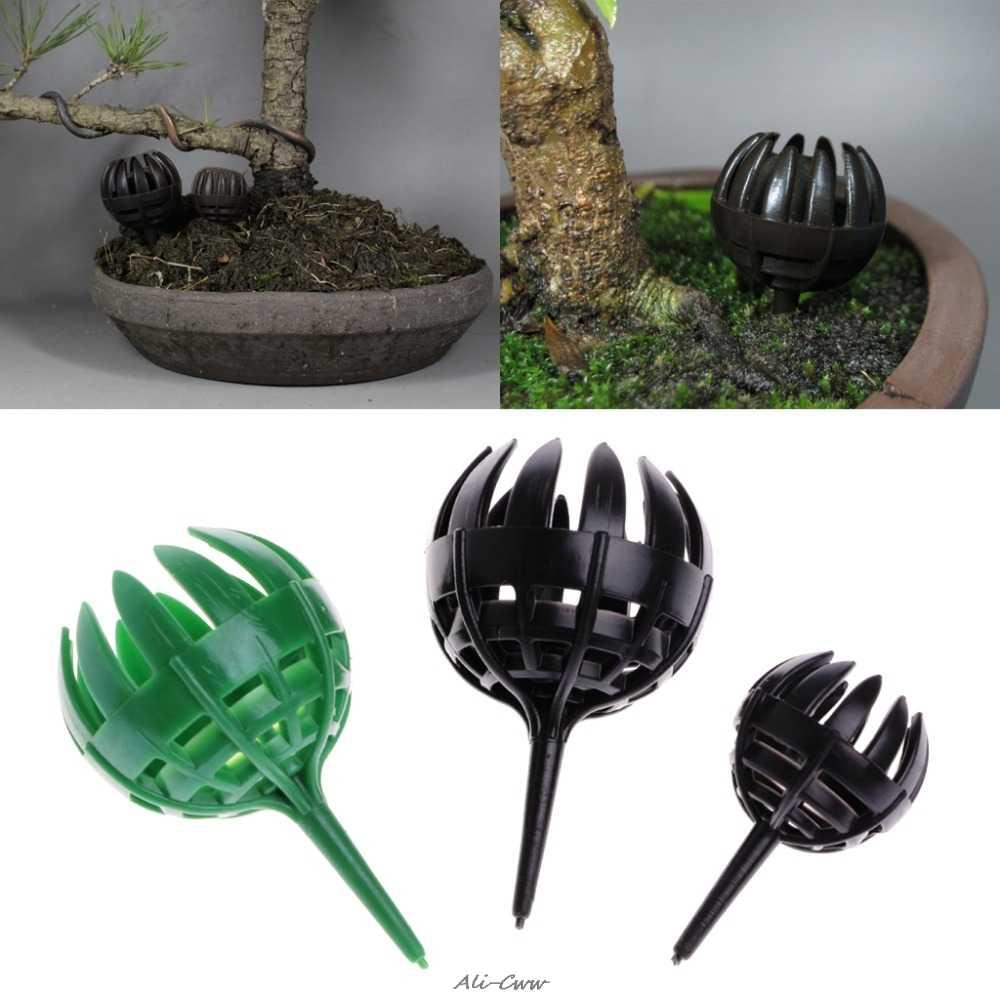 5 pçs/saco Ferramenta Bonsai Fertilizante Cesta Tampa Da Caixa Caso de Cúpula de Plástico Planta Bug Portátil Verde/Café