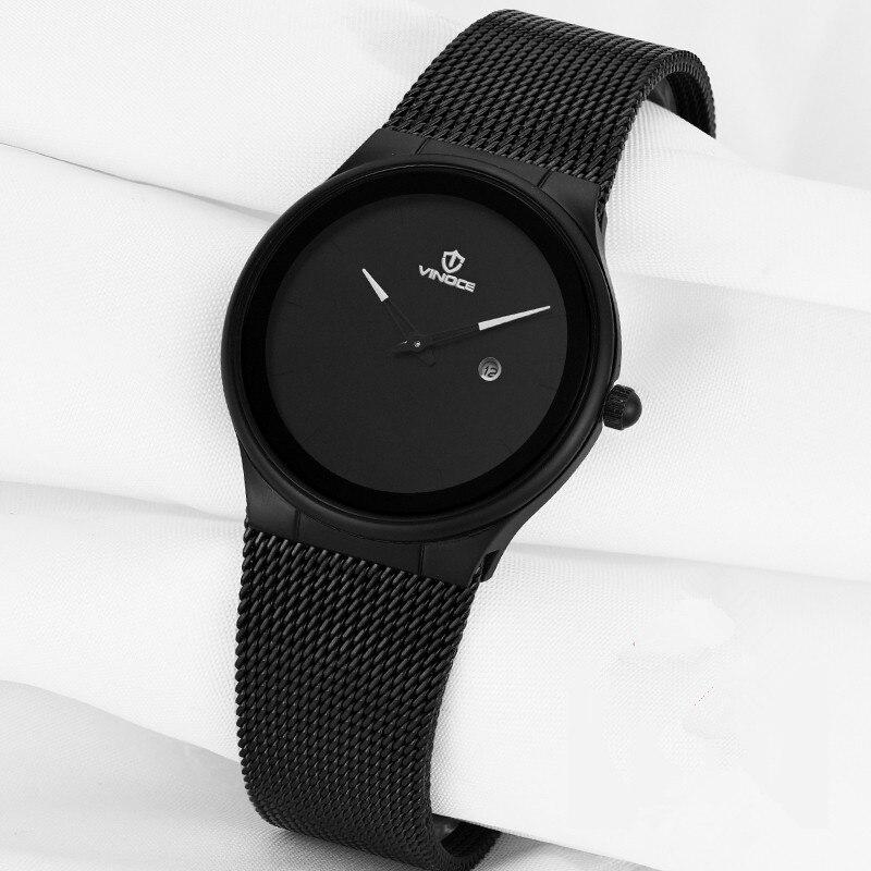VINOCE Watch Women Automatic Waterproof Top Brand Quartz Watches Full Stainless Steel Black Gold Clocks Elegant Ladies Watch in Women 39 s Watches from Watches