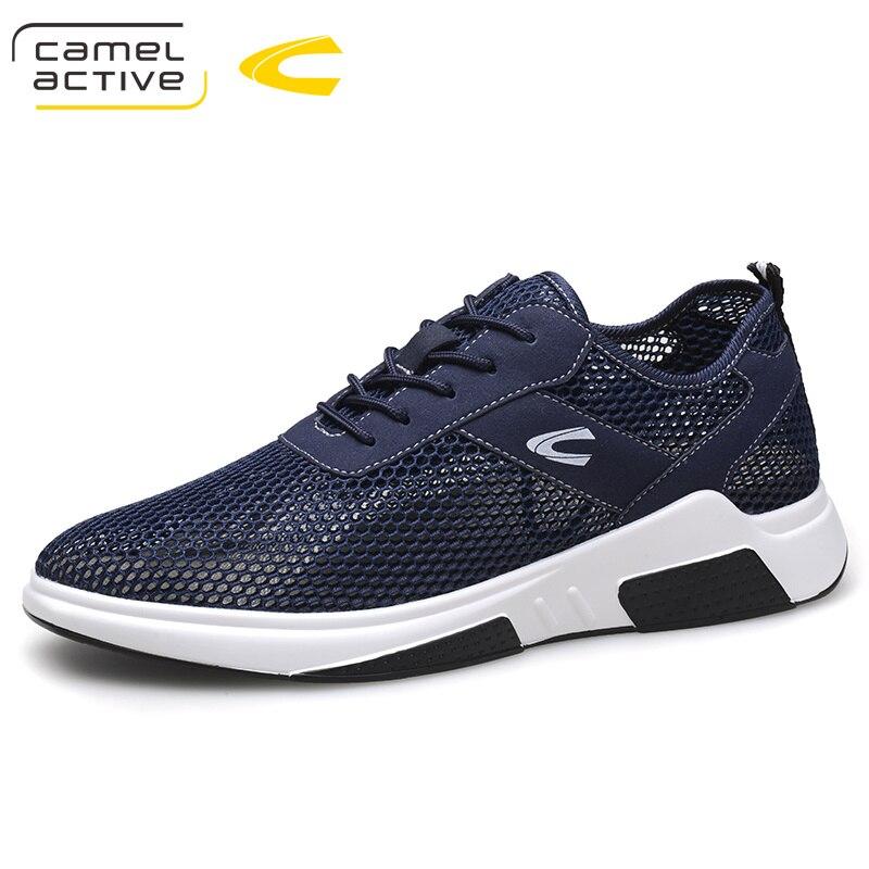 Camel Active printemps été chaussures hommes décontractées 2018 nouveau populaire à lacets jeune homme respirant léger semelle maille chaussures