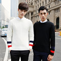 Fashion Warm Sweater Men Long Sleeve Single Strip Casual Knitted Sweater Man Cardigan Sweatercoat Male 8516