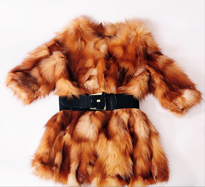 Free Shipping  new Genuine real natural Fox Fur Coat Women Luxury Crystal fashiion Fur Jacket Winter Waistcoat Big Size