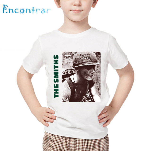 4e1c7fd4a70a Kids The Smiths England Rock Band Funny T shirt Children Summer Short  Sleeve White Tops Boys and Girls Casual T-shirt,HKP4176