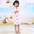 2017 Children's Bathrobes for Kids Girls Bathrobe Flannel Fleece Baby Bathrobe Boys Sleepwear Child Robe Winter & Autumn