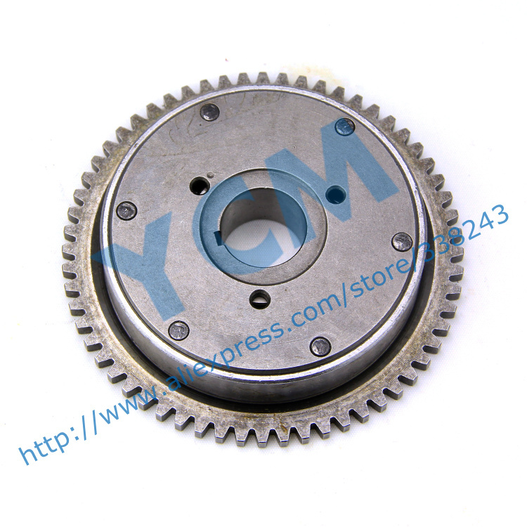 More Ball Startup Disk Overrunning Clutch GY6 125 150cc Starter Gear Scooter Engine 152QMI 157QMJ Spare Parts YCM Drop Shipping high quality crankshaft gy6 125 150cc scooter engine crankshaft 152qmi 157qmj spare parts ycm drop shipping