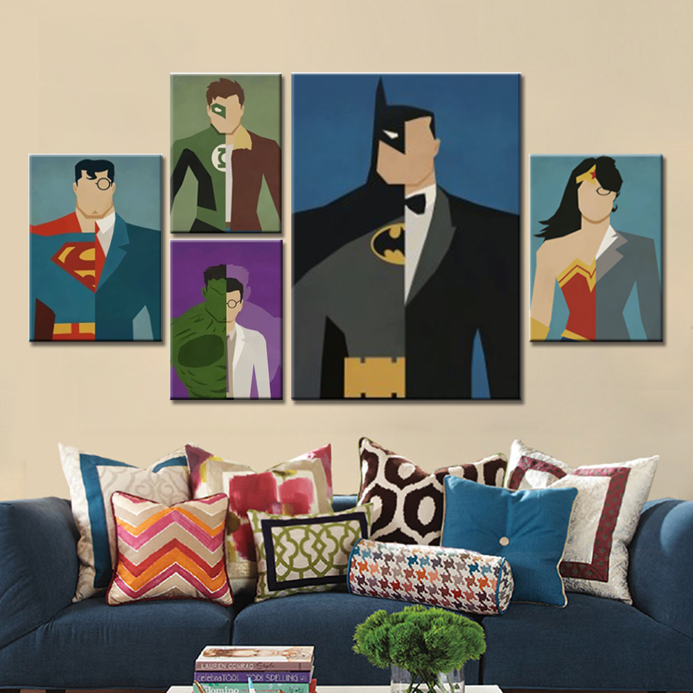 Super Hero decoratie schilderij Home Decor op Canvas Modern Wall Art Canvas Print Poster Canvas schilderij voor kinderkamer