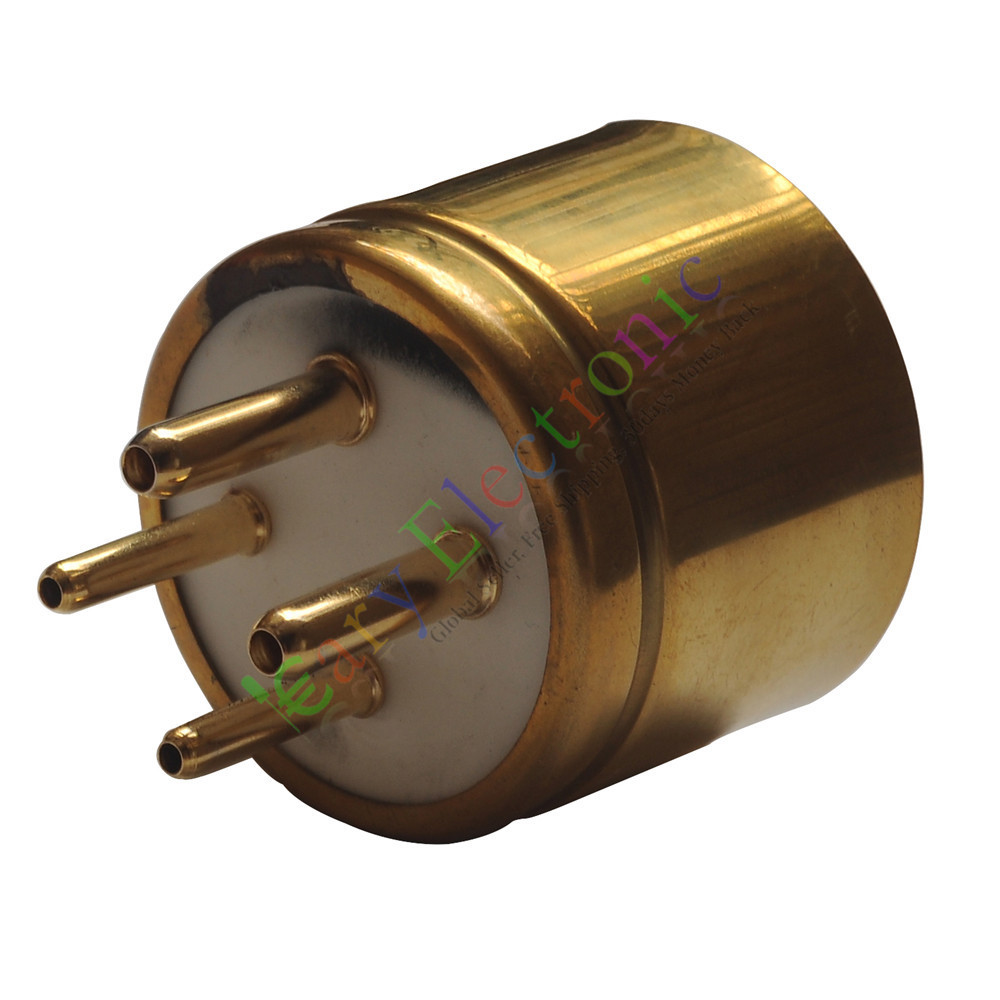 Free Shipping Electronic Components & Supplies 300b 2a3 For Large Four-leg Flat Gold-plated Tube Socket