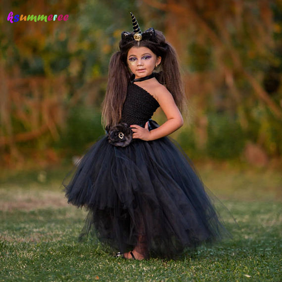 Unicorn Girls Tutu Dress Halloween Holiday Costume Baby Cosplay Party Ball Gown Funking Girls Vestidos For Photo Props женское платье hi holiday vestido vestidos 140120