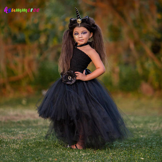 Unicorn Girls Tutu Dress Halloween Holiday Costume Baby Cosplay Party Ball Gown Funking Girls Vestidos For