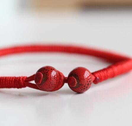 2 Teile / los Mode Roten String Armband Keramik Handgemachte - Modeschmuck - Foto 3