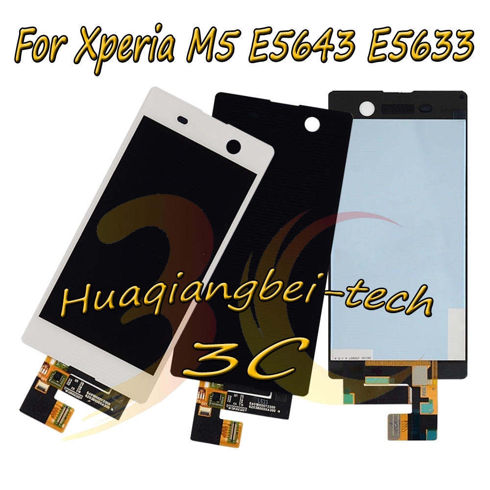New 5.0'' For Sony Xperia M5 E5606 E5653 E5663 E5643 E5633 Full LCD DIsplay + Touch Screen Digitizer Assembly 100% Tested