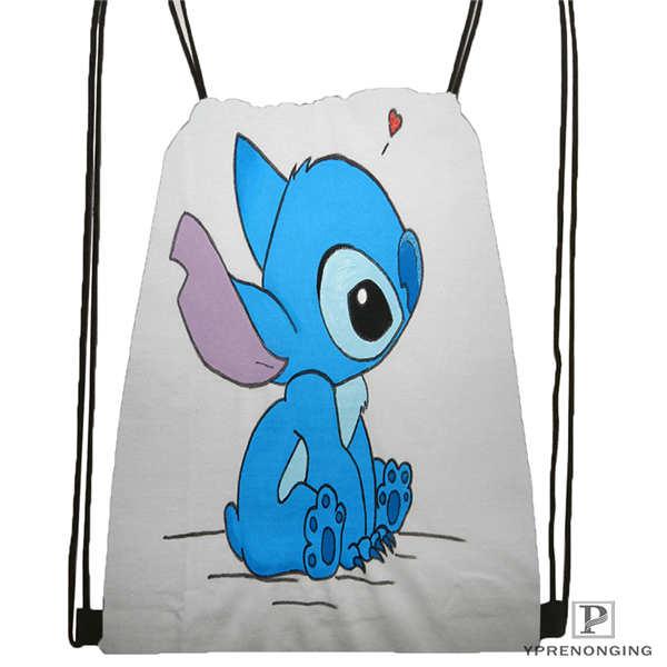 CustomLilo-Stitch-walt @01-Drawstring Backpack Bag For Man Woman Cute Daypack Kids Satchel (Black Back) 31x40cm#20180611-03-139