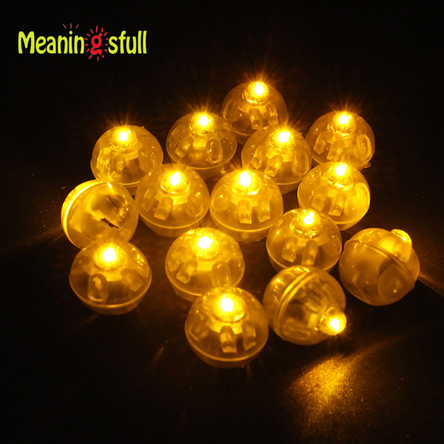 100pcslot round ball lamps led balloon lights for paper lantern yellow white wedding christmas halloween party decoration boda