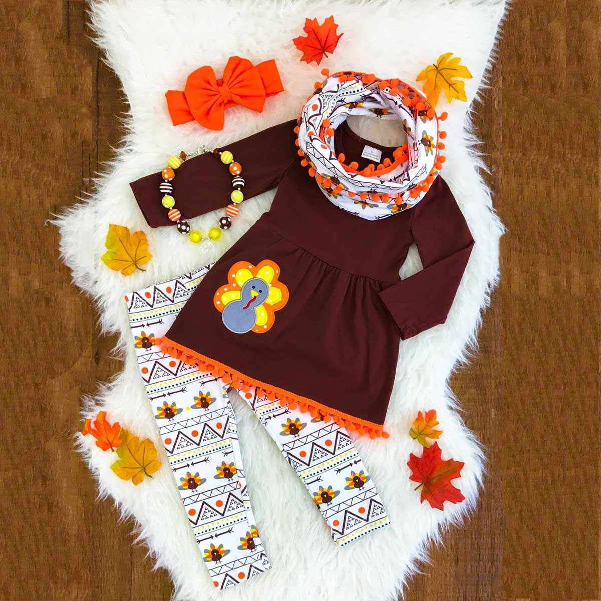 Kids Baby Girls Turkey Outfits Clothes Dress Tops T Shirt + Long Pants Set pudcoco Thanksgiving Day Turkey Long Sleeve set цена 2017