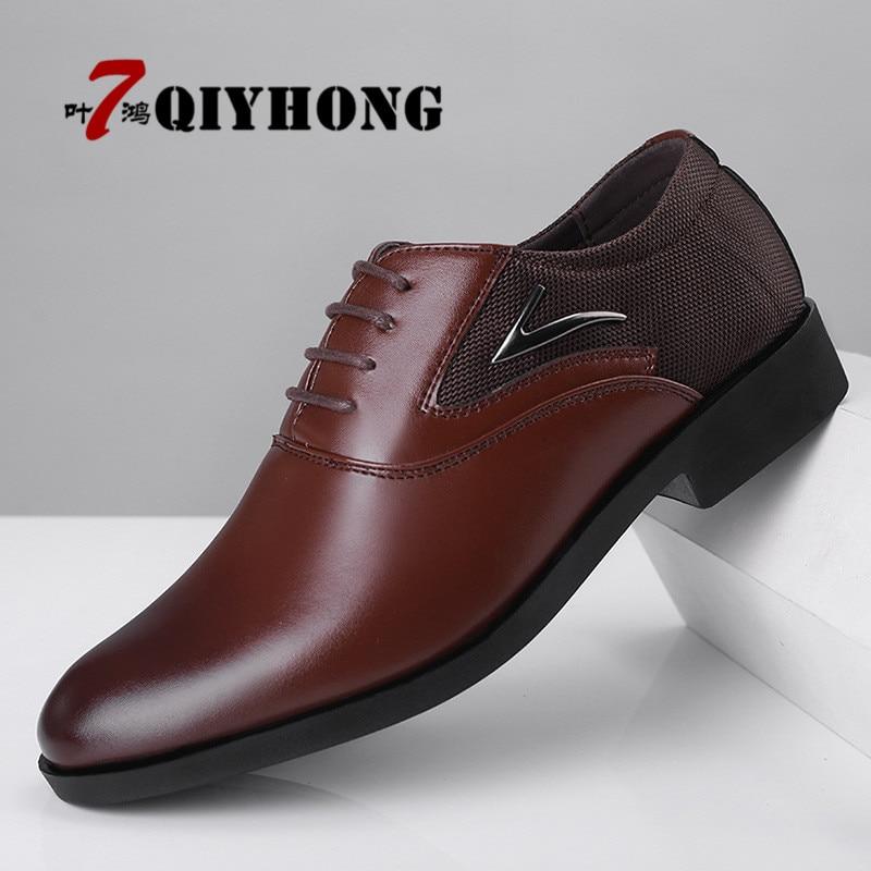 Mode Oxford En D'affaires Haute Appartements marron Respirant Chaussures Noir Qualité Casual Gratuite De Cuir Véritable Hommes Nouveau Printemps Livraison Doux Enwqvxq5