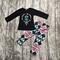 2016 Fall/ Winter baby girls wild free cotton full long sleeve clothing baby Fall outfits girls boutiques aztec pants clothing,