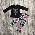 2016 Otoño/Invierno bebés salvaje de algodón libre de larga llena ropa del bebé del Otoño trajes de manga niñas boutiques azteca pantalones ropa,