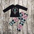 2016 Outono/Inverno bebê meninas selvagem algodão livre longa e cheia manga bebê roupas Queda outfits meninas calças asteca roupas boutiques,