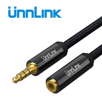 Unnlink HIFI 3/4 Pole TRRS 3.5mm Jack Aux Cable Extender Extension Cable Cord 2m 3m Audio Cable for Headphone Headset Earphone