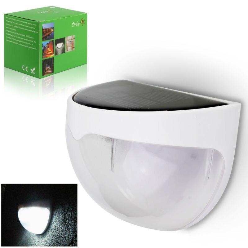 Generation LED Solar Power Bright PIR Human Body Motion Sensor Induced Home Security Lamp Outdoor Light 6 LED Fence Gutter 12 led body sensor solar power light