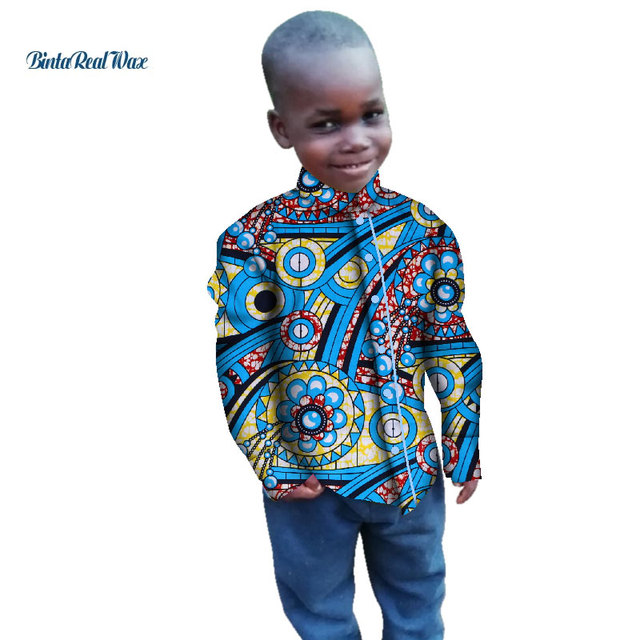 f3c6a72c US $17.68 |New Boy's Shirts Tops Bazin Riche African Wax Print Ankara Shirt  100% Cotton Shirt for Boys Children Kids African Clothes WYT269-in Africa  ...
