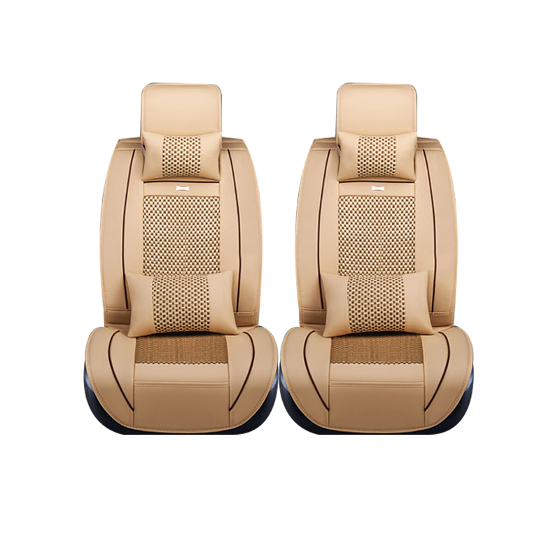 Special leather only 2 front car seat covers For Hyundai solaris ix35 i30 ix25 Elantra accent tucson Sonata auto accessories for renault fluence latitude talisman laguna wear resisting waterproof leather car seat covers front