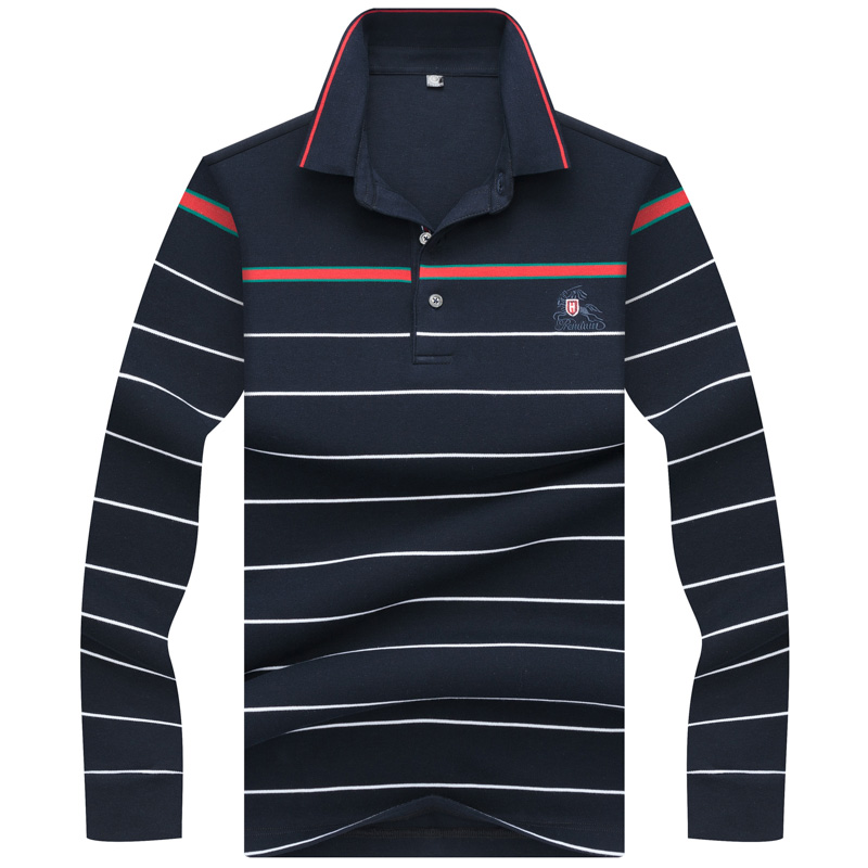 2019 Top Rushed Voll Frühling Herbst Männer Polo Hemd Langarm Hohe Qualität Business Casual Komfortable Männer Marken Kleidung Einen Einzigartigen Nationalen Stil Haben