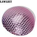 B044 Pink Sequin Circle Millinery Hat Fascinator and Headpieces Round  Base Craft